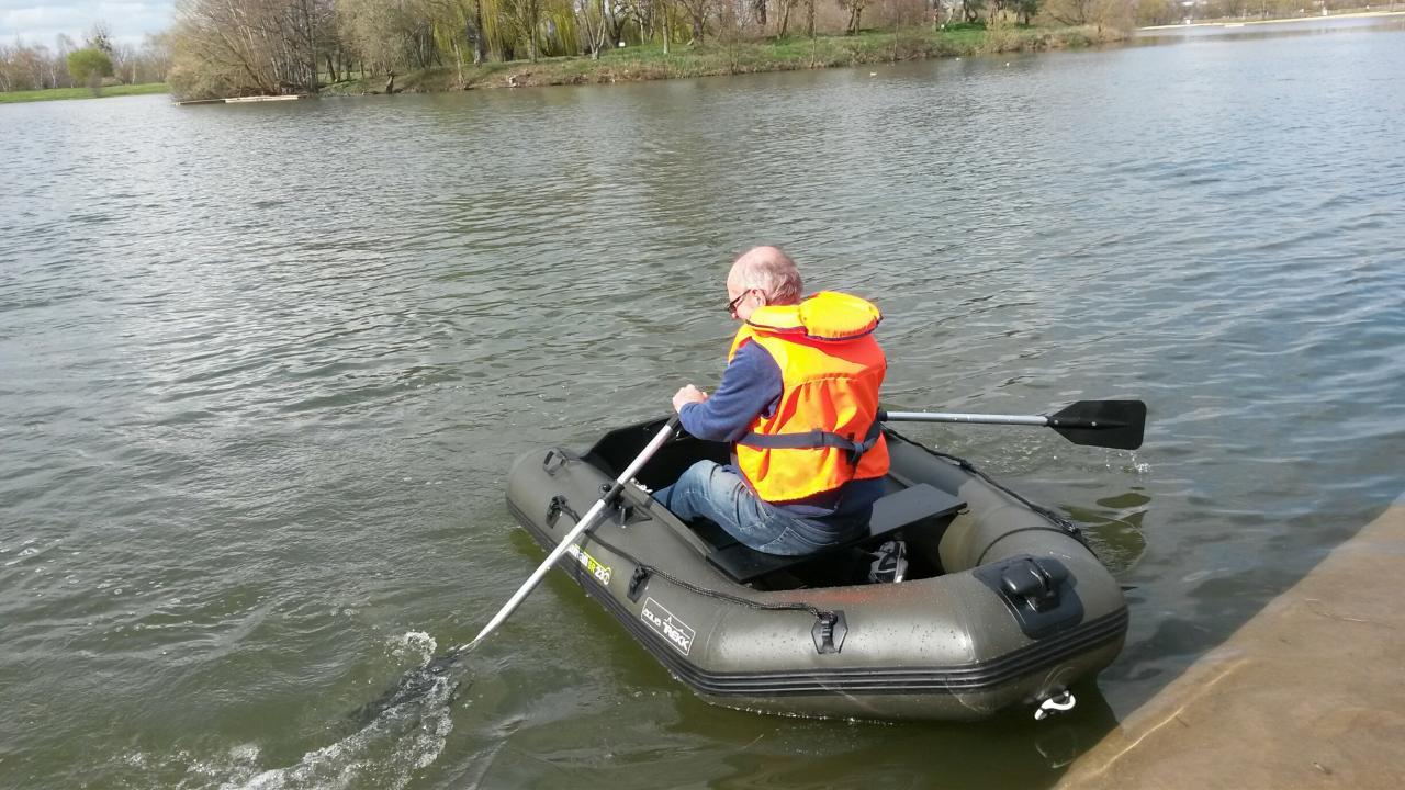 1er essai du canot de sauvetage